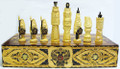 Two-Toned Russian Vikings Lacquered Chess Set