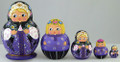 Anastasia - Miniature Treasure in the Purple Dress | Fine Art Matryoshka Nesting Doll