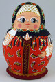 Anastasia - Miniature Treasure in the Red Dress | Fine Art Matryoshka Nesting Doll