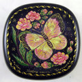 Cherry Flowers and Butterfly | Mstera Lacquer Box
