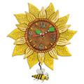 Bee Sunny Sunflower Pendulum Clock