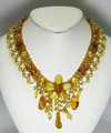 Butterscotch Amber Necklace with Flower