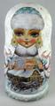 Snegurochka by Tatiana Rolina - Pink Coat | Unique Museum Quality Matryoshka Doll