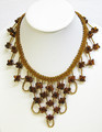 Elegant Amber Beaded Necklace