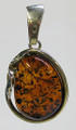 Baltic Amber Oval Pendant