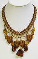 Baltic Amber Necklace with Cognac Stones