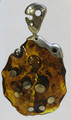 Abstract Honey Baltic Amber Pendant