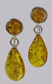 Honey Baltic Amber Teardrops Earrings
