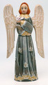 Hand Carved Angel with Bird- Olive Dress
