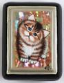 Little Kitten   Fedoskino Lacquer Box