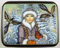 Snegurochka with Birds by Smirnova | Fedoskino Lacquer Box