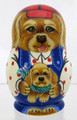 A Dog with Puppy | Fine Art Matryoshka Nesting Doll