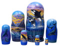 Whale Watching Nesting Doll 7pc/8""