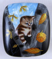 Kitten on a Tree | Fedoskino Lacquer Box