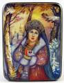 Snow Maiden by Kolmogorova Zoya   Fedoskino Lacquer Box