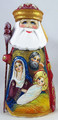 Nativity Scene On Russian Santa with Holy Family