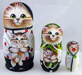 Cat's Family 3pc Matryoshka