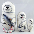 Polar Bear 3pc Matryoshka