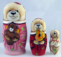 Bear Girl 3 Piece Matryoshka | Alaska Theme Matryoshka Nesting Doll