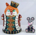 Cat and Mouse | Fine Art Matryoshka Nesting Doll
