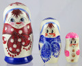 Snowman - Red Scarf | Traditional Matryoshka Nesting Doll