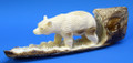 Walking  Polar Bear - Fossilized Walrus Ivory
