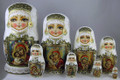 Icon Matryoshka Doll by Tatiana Rolina 8 Nest