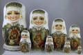 Icon Matryoshka Doll by Tatiana Rolina 8 Nest | Religious Theme Matryoshka Nesting Doll