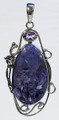Charoite Pendant with Amethyst