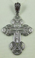 Sterling Silver Orthodox Cross with Crucifix
