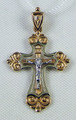 Russian Orthodox Crucifix 585 (14 k) Rose and White Gold