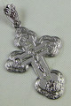 Russian Orthodox Cross Pendant with Silver Crucifix