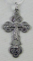 Silver Russian Orthodox Cross Pendant with Silver Crucifix