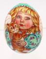 Angel with Kitten Egg - Christmas Ornament