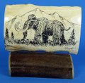 Mammoth and Mountains Scrimshaw by George Vukson