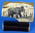 Woolly Mammoth Scrimshaw by G. Vukson