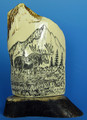 Bull Moose Scrimshaw by George Vukson - SOLD