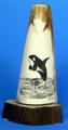 Jumping Killer Whale - Scrimshaw by George Vukson