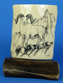 Mammoth Ivory Scrimshaw by George Vukson