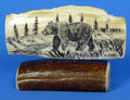 Bear by the River - Scrimshaw by George Vukson