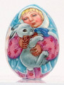 Angel Child with Rabbit   | Russian Christmas Ornament