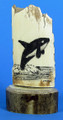Jumping Killer Whale - Small Scrimshaw by George Vukson