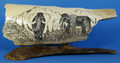 Large Woolly Mammoth Scrimshaw by George Vukson