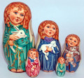 Angel Friends | Religious Theme Matryoshka Nesting Doll