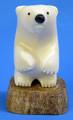 Standing Polar Bear Cub | Alaskan Ivory Carving