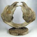 Two Ravens | Whalebone / Walrus Jawbone Carving