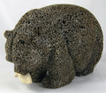 Bear Head Down with Salmon by Eugene Romanenko | Whalebone / Walrus Jawbone Carving
