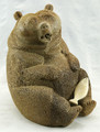 Large Sitting Bear with Salmon by Eugene Romanenko