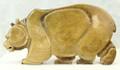 Walking Grizzly by Eugene Romanenko | Whalebone / Walrus Jawbone Carving