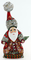 Santa Tall Hat - Red | Grandfather Frost / Russian Santa Claus
